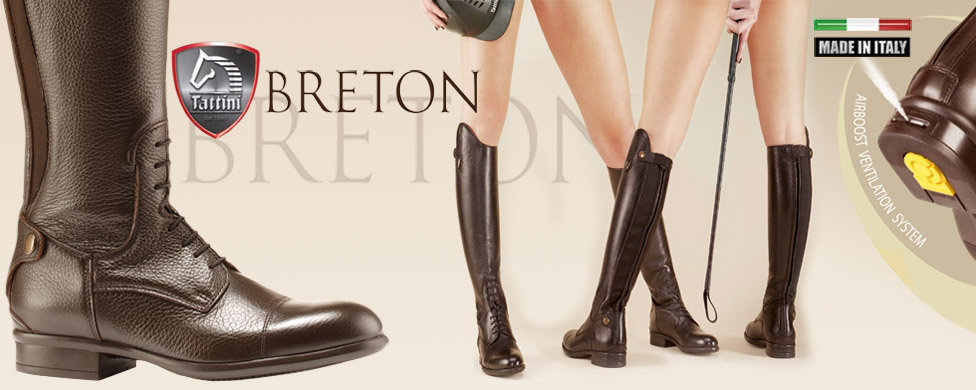 Brown Tattini Breton riding boots