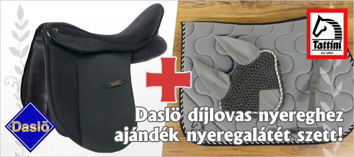 Daslö díjlovas nyereghez ajándék nyeregalátét+fülvédő szett