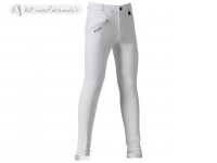 Daslö Children Jodhpurs Breeches White With Suede Knee Patch