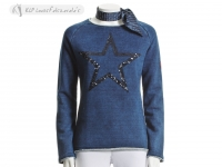 Tattini Ladies Glitter Starred Sweatshirt