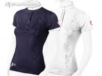 Tattini Ladies Button Down Short Sleeved Stock Shirt With Foliage