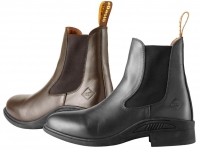 Daslö Coated Leather Short Riding Boots