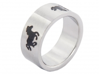 Ring With Black Horses