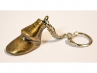 Antiqued Keychain With Horse Hoof