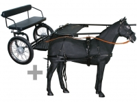 Pony Cart With Leather Harness