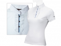 Tattini Ladies Show Shirt With Laced Rouches