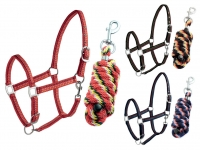 Daslö Dotted Nylon Halter With Lead Rope