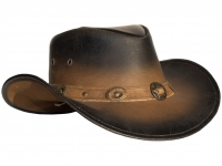 Leather Western Hat