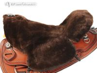 Sheepskin Saddle Seat Cover Brown