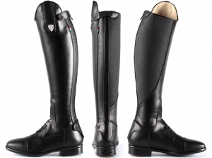 Tattini Retriever Laced High Shin Long Riding Tall Boots With Grip Inserts