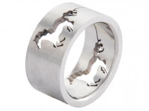 Gyűrű Áttört Lóval