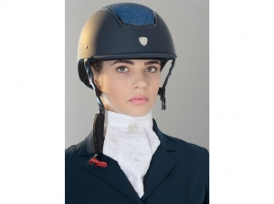 Tattini Rubber Coated Riding Cap With Glitter Plate