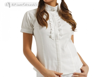 Tattini Ladies Short Sleeved Stock Shirt With Frills