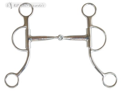 Ss Brad Rens Snaffle Bit Copper Inlay, 7 Cheek