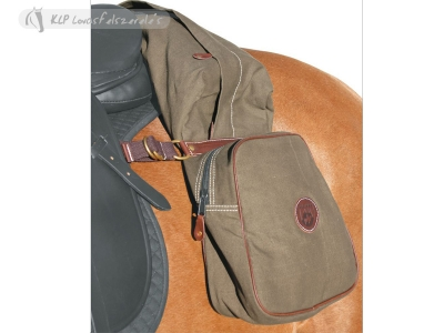 Canvas Saddle Bag With 3 Pouches