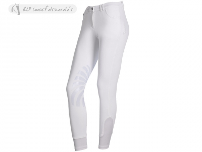 Tattini Ladies Kenzia Platinum Breeches With Silicone Knee Patch
