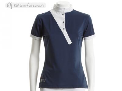 Tattini Ladies Short Sleeved Stock Shirt With Diagonal Contrasting Insert