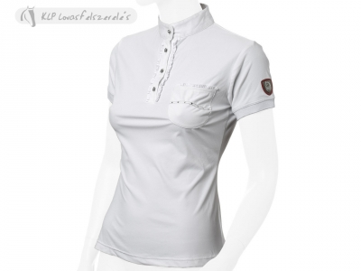 Tattini Girls Short Sleeved Stock Shirt With Front Pockets And Ruches