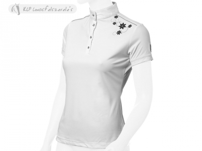 Tattini Ladies Short Sleeved Stock Shirt With Flower-Printing And Rhinestones