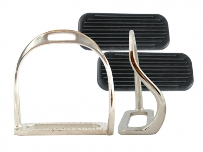 Safety Stirrups Nickel Plated With Treads