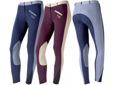 Daslö Ladies Bicolour Breeches With Suede Knee Patch