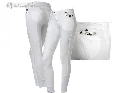 Tattini Ibisco Girls Breeches With Silicone Knee Patch