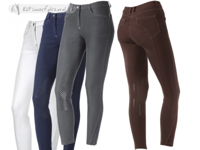 Daslö Gold Medea Girls Breeches With Silicone Knee Patch