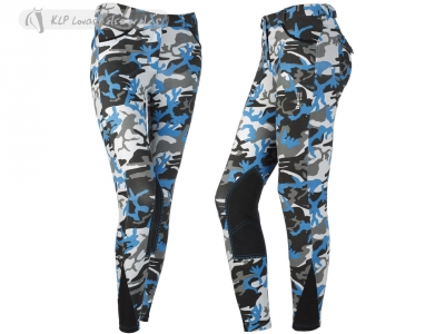 Daslö Camouflage Lighweight Girls Breeches With Suede Knee Patch