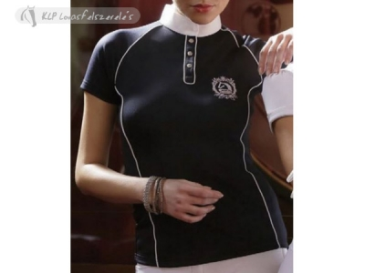 Tattini Ladies Stock Shirt Short Sleeved With Contrasting Jetted Pockets