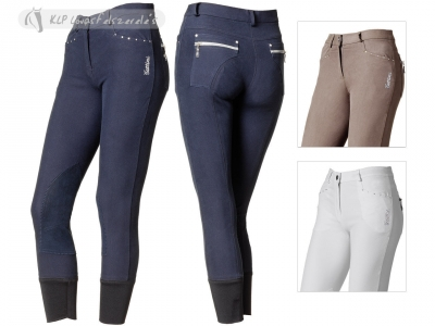 Tattini Microfiber Ladies Breeches Dafne With Suede Knee Patch