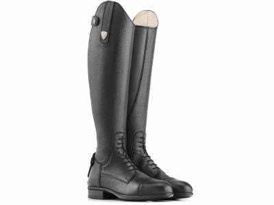 Tattini Breton Close Contact Laced Grained Leather High Shin Long Riding Tall Boots