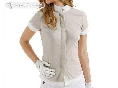 Tattini Ladies Short Sleeved Stock Shirt With Crystals