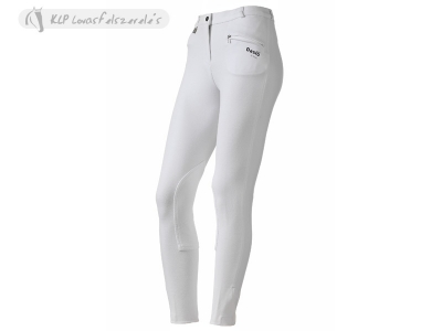 Daslö Ladies Breeches White With Suede Knee Patch