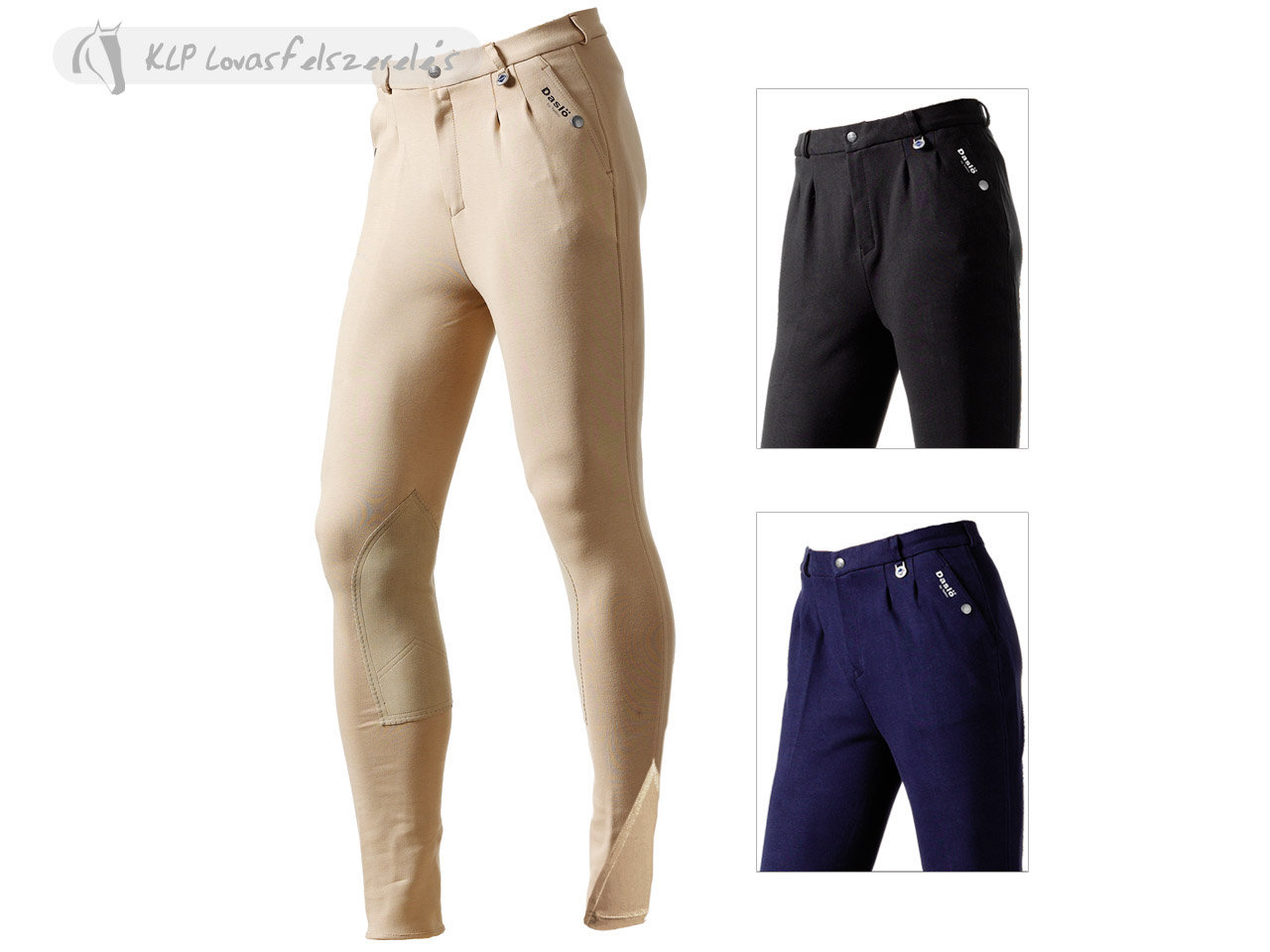 Daslö Men Breeches With Suede Knee Patch