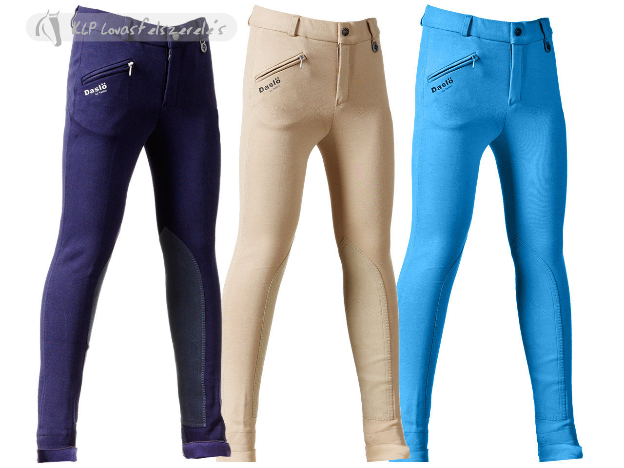 Daslö Children Jodhpurs Breeches With Suede Knee Patch