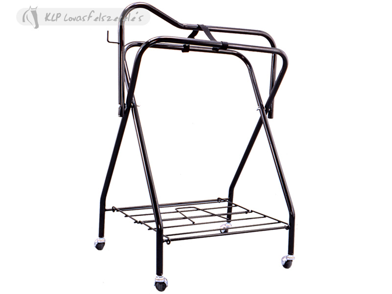 Folding Saddle Display Stand 4 Wheels