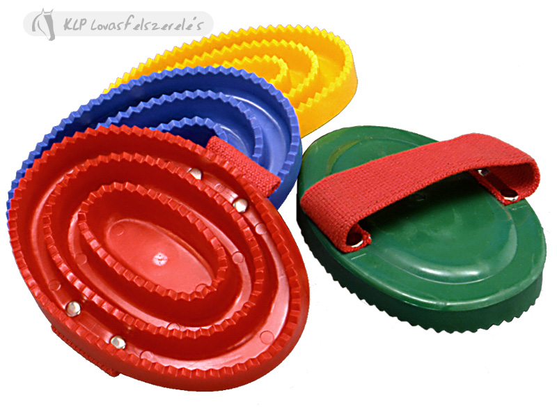 Plastic Curry Comb With Strap