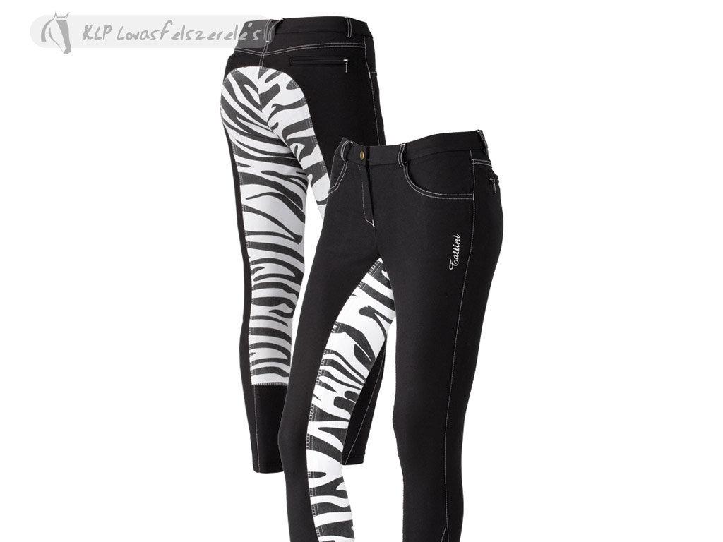 Tattini Ladies Breeches Zebra Printing Full Seat Tattini