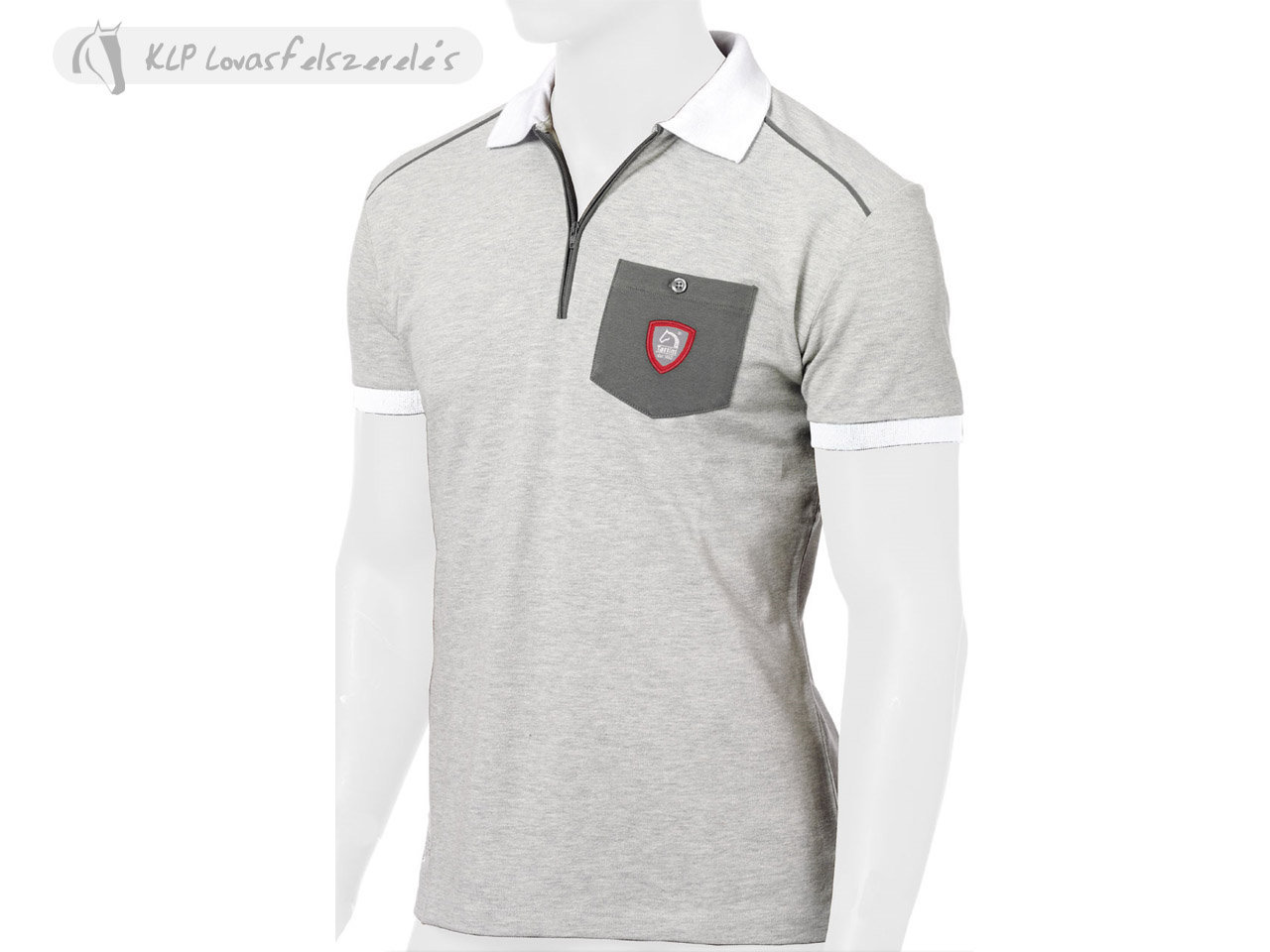 Tattini Mens Zipped Short Sleeved Stock Polo Shirt