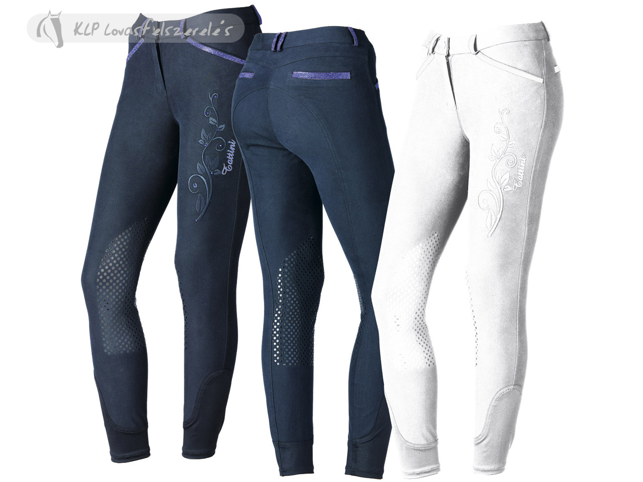 Tattini Ladies Felce Breeches With Silicone Knee Patch