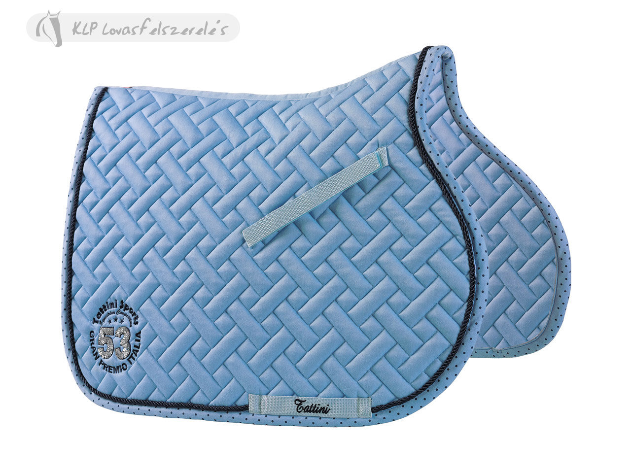 Tattini Saddle Pad With Polka Dot Ribbon