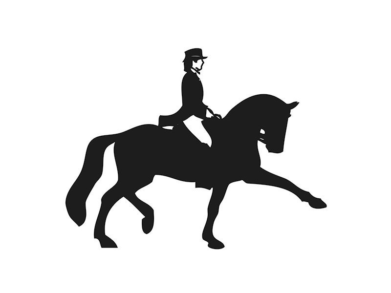 Car Sticker Dressage Rider 2