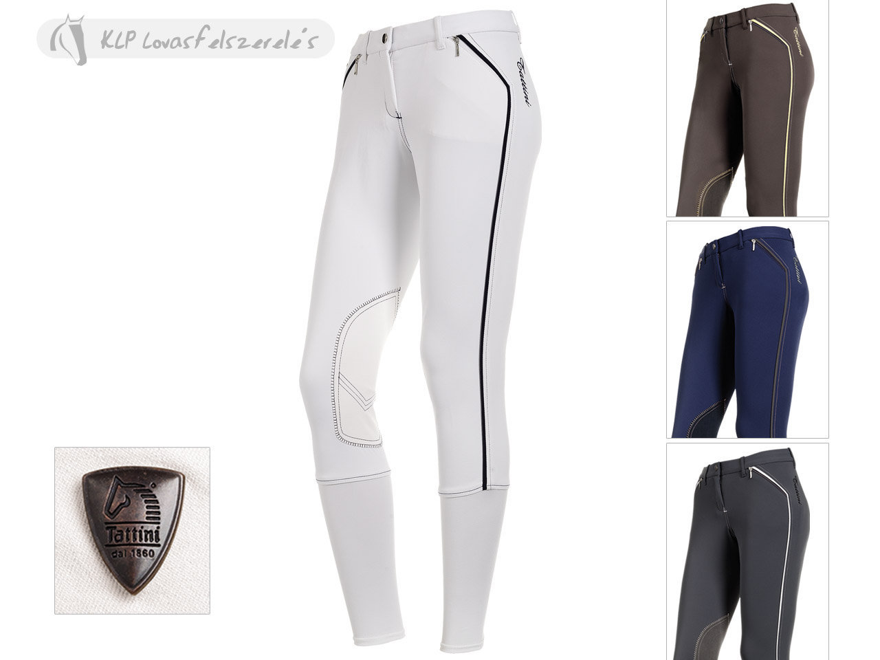 Tattini Ladies Breeches Ginestra With Suede Knee Patch