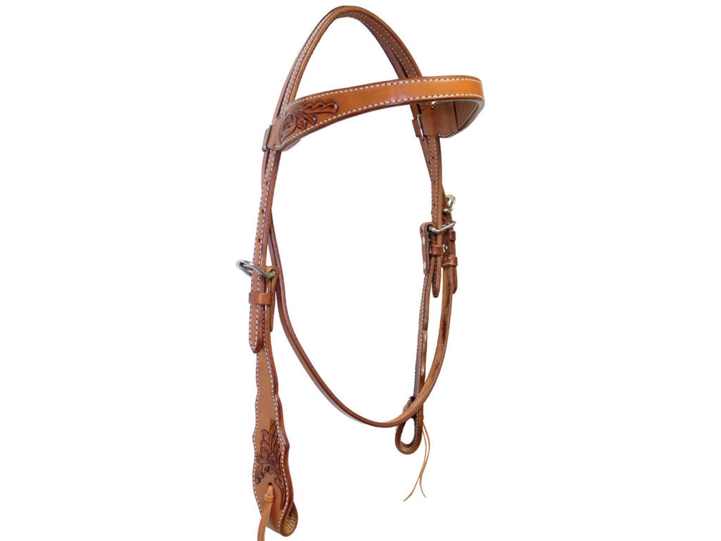Brad Ren's Headstall With Floral Decoration On Sides