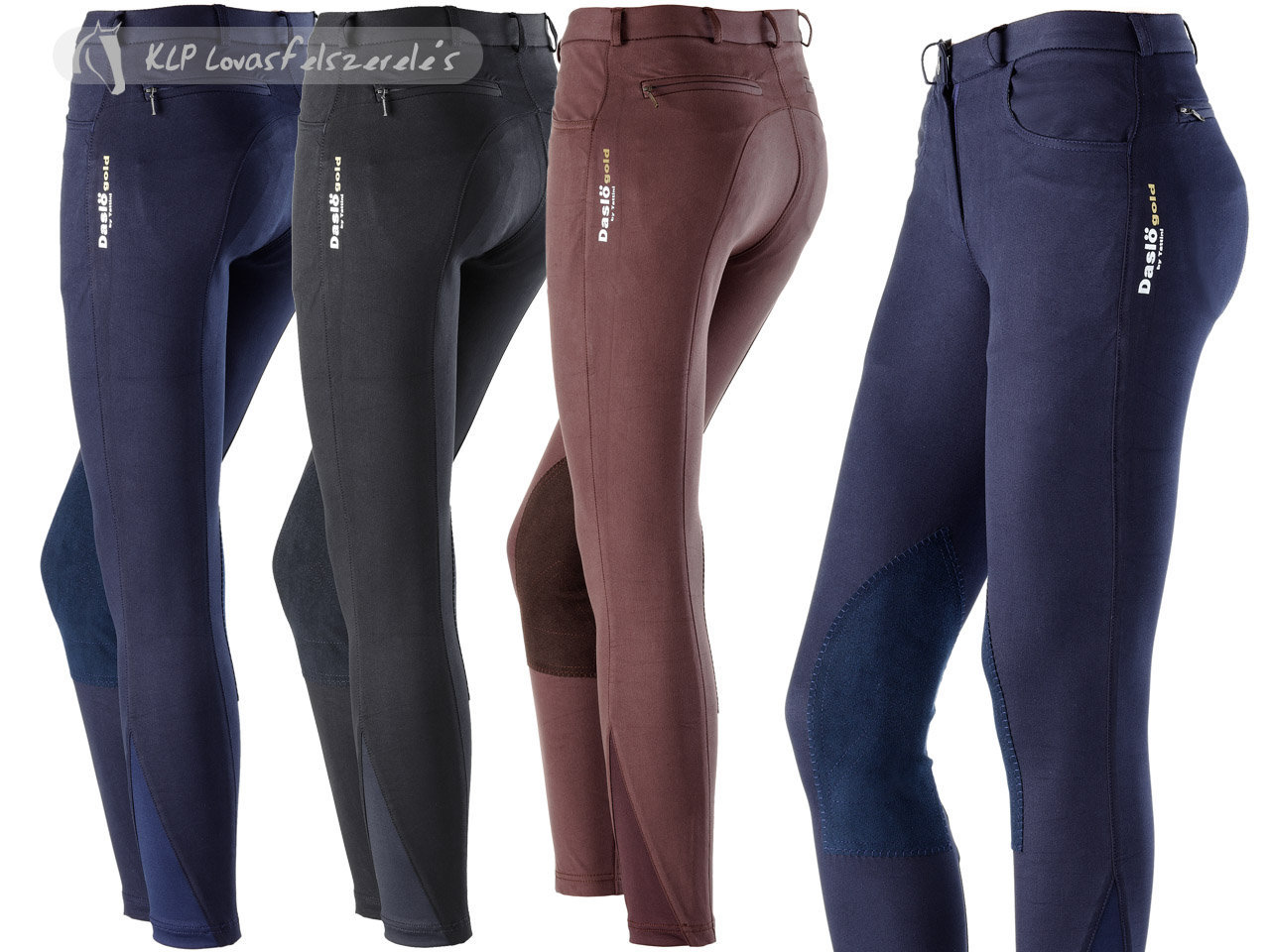 Daslö Gold Girls Breeches Ninfa With Suede Knee Patch