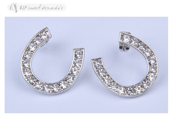 Earring Horseshoes With Rhinestones