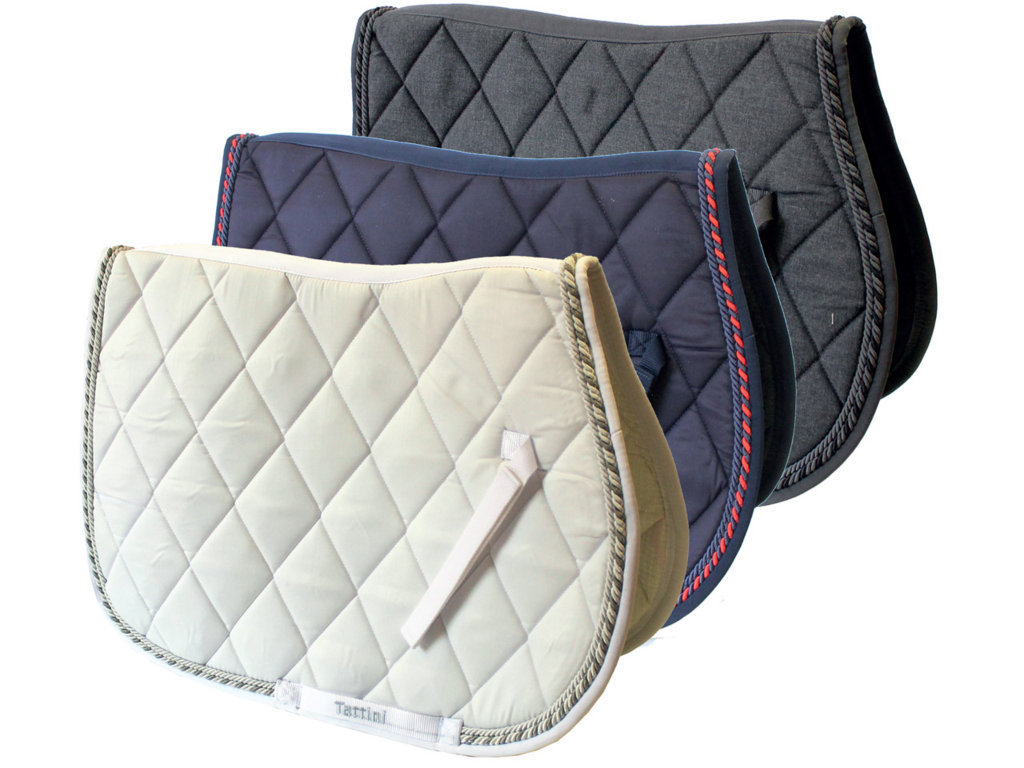 Tattini Diamond Quilted Saddle Cloth With Double Rope