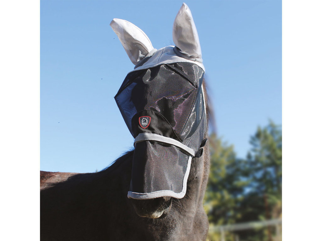 Fly Mask With Datachable Nose Flap