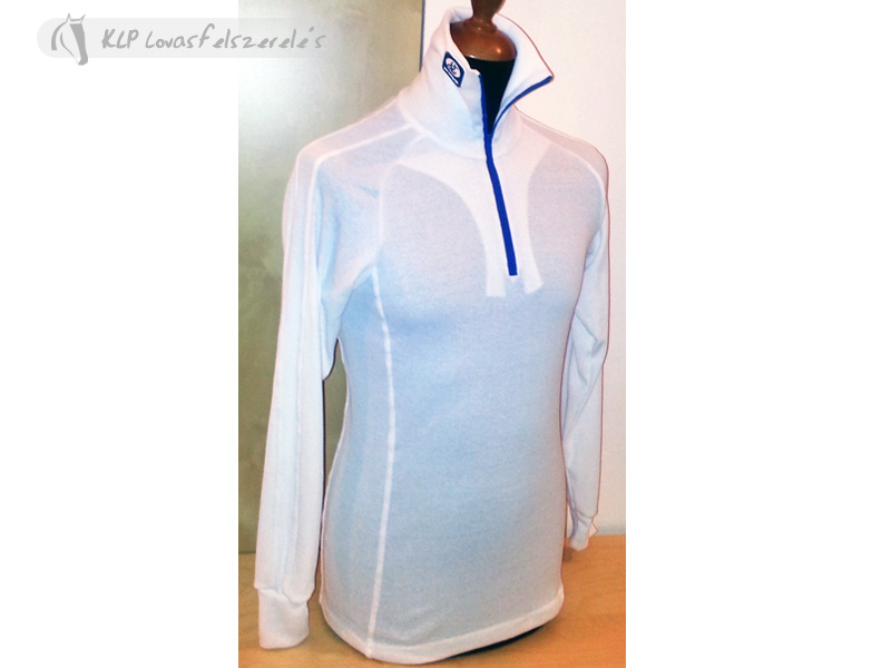 Cotton Race Shirt With High Neck, Long Sleeves