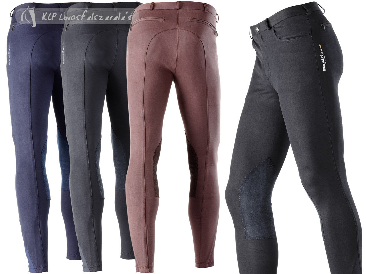 Daslö Gold Men Breeches Orfeo With Suede Knee Patch
